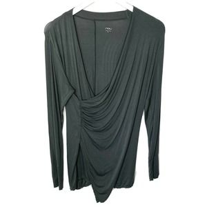NAU Micro Modal Ruched Faux Wrap Long Sleeve Tunic